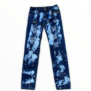 Kroix bleached ripped skinny jeans